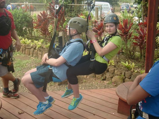 Koloa Zipline: Dry land training and fitting