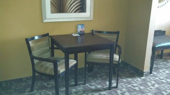 Holiday Inn Express Hotel & Suites Foley: only a small square table... no work desk