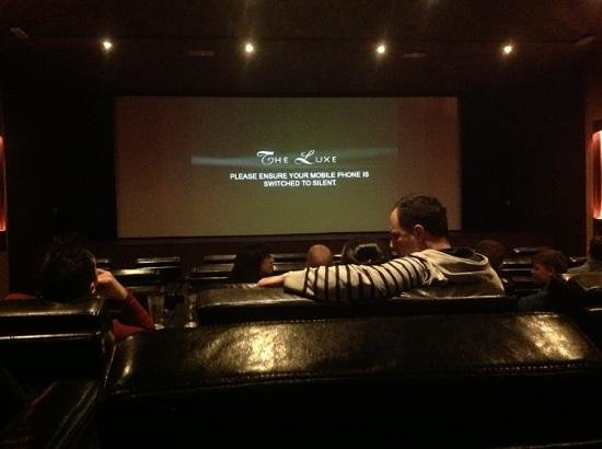 The Luxe Cinema: Luxe cinema, comfy seats or what!