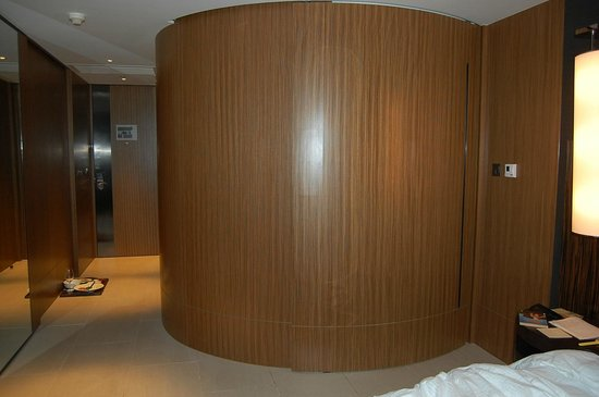 Hotel ICON: Entrance to room and bathroom pod