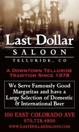 Last Dollar Saloon : Last Dollar ad