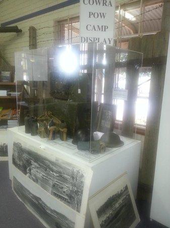 Cowra Visitor Information Centre: display of WW2 memorabilia