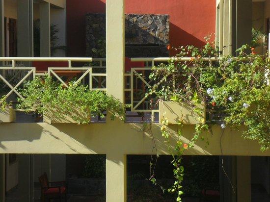 Hotel Jardin de Iguazu: patio interno (pasarela)