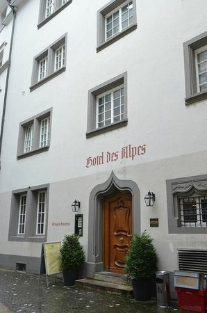 Hotel des Alpes: Hotel entrance