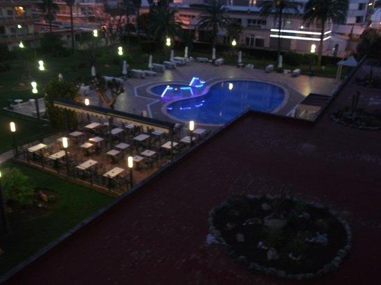 Hotel Helios: vue de la chambre de nuit