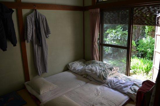 Business Ryokan Maizuru: Chambre donnant sur le jardin zen