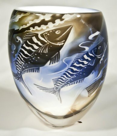 Ebb Tide Graal Vase Made By John Ford In Bedminster Picture Of