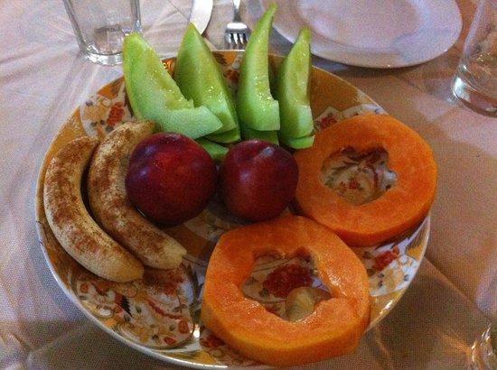 B&B Riad Casa Sophia : frutta a cena