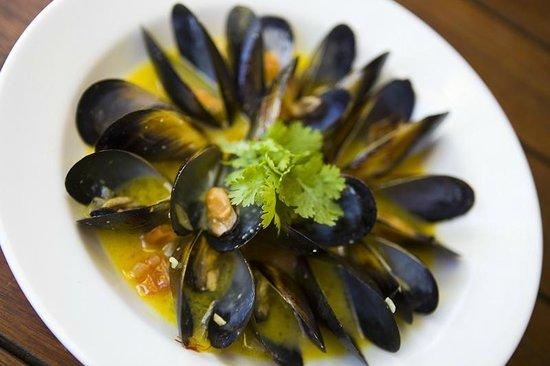 Kacy's Restaurant: Fresh black lip mussel's from South Australia