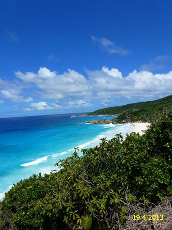 Grand Anse: VIEW ON THE BEAUTIFUL BEACH OF PETITE ANSE AND GRANSE ANSE, IN APRIL 2013.