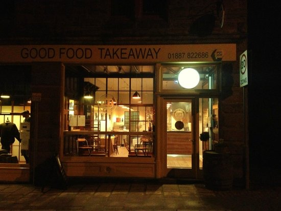 Good Food Takeaway: The old shop window and entrance