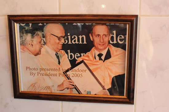 Tandoor : Vladimir Putin has dined out here as well