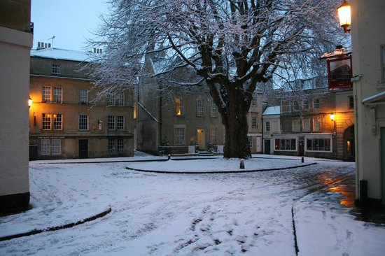 Three Abbey Green in the snow