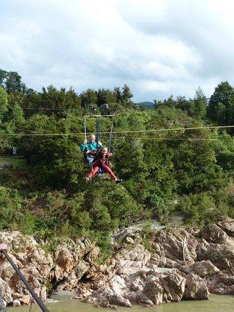 Buller Gorge Swingbridge Ltd: Even little kids can enjoy the thrill of the flying fox.