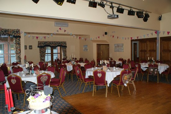 The Burton Hotel: Function room set up for Victorian Steampunk tea