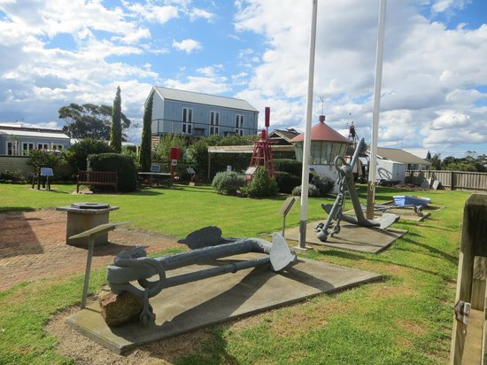 Port Albert Maritime Museum: anchors, bouys and other maritime equipment
