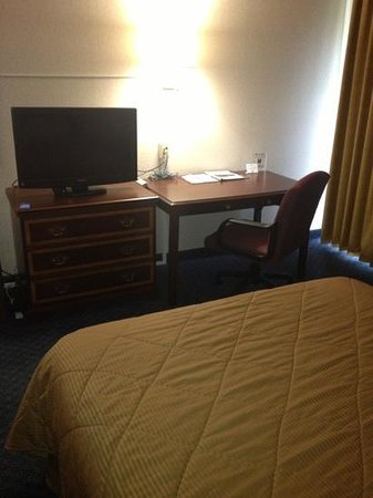 Comfort Inn Middletown: nice room with flat screen tv, fridge and microwave