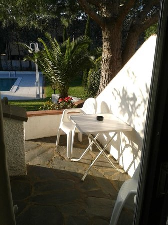 Hotel Misty: notre terrasse