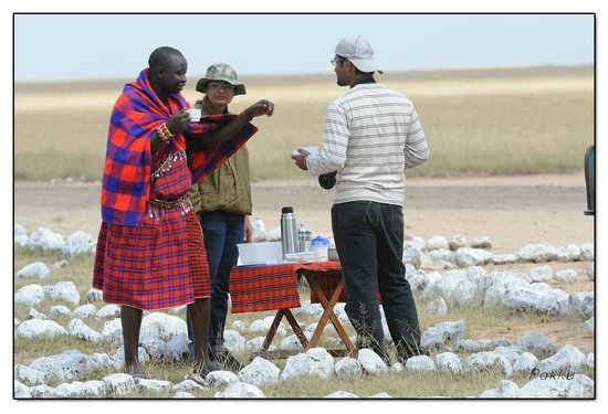 Porini Lion Camp: Break fast at Amboseli AP