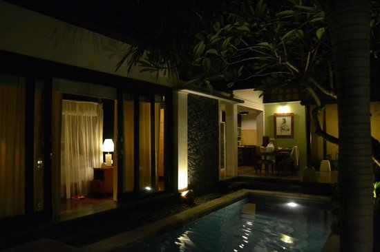 The Sanyas Suite Seminyak: Pool View, Beadroom and dining table...