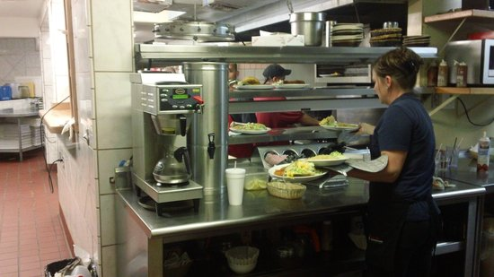 El Cid Mexican Cuisine: The busy kitchen