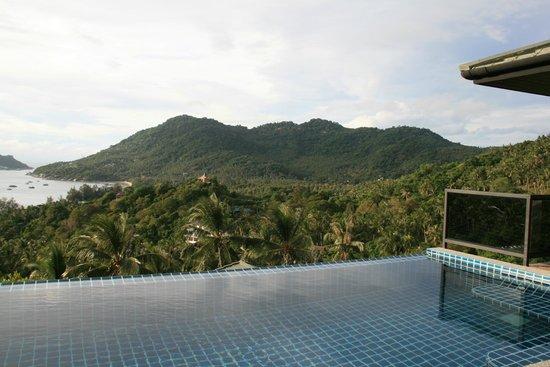 Koh Tao Heights Boutique Villas: Vue depuis la terrasse