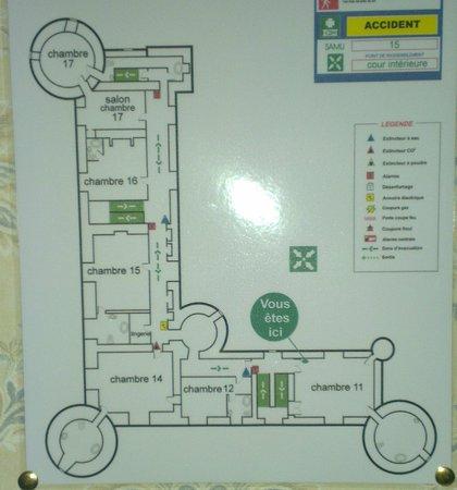 Chateau De La Cote: Plan 1er etage