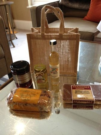 Rudding Park Hotel: Scrummy local things in the bag.