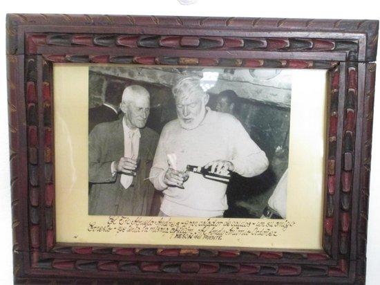 Hotel San Gabriel: Ernest Hemingway photo