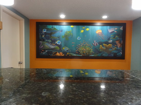 Ocean Sands Beach Inn: Front Desk Painting