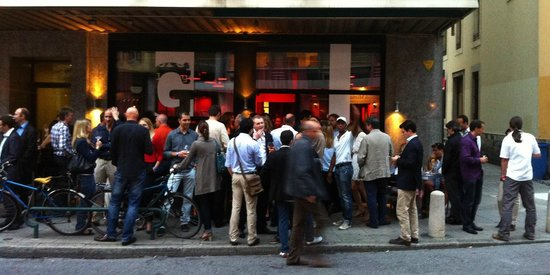 Grey Lounge: outside the restaurant