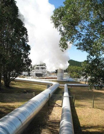 Wairakei Geothermal Power Station Visitor Center: You can see these steam columns from town