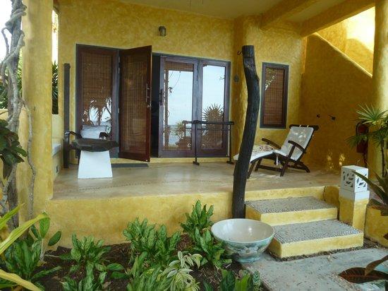 Phra Nang Lanta: chambre RDC avec terrasse sur mer