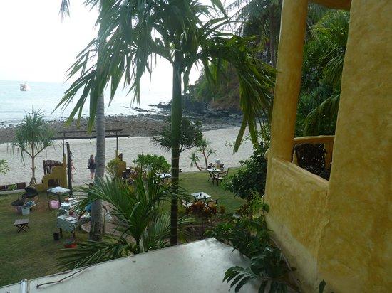 Phra Nang Lanta : chambre à l'étage vue mer