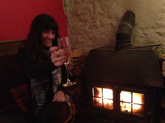 Llys Meddyg: Bar in the basement. Built in the 1500's!
