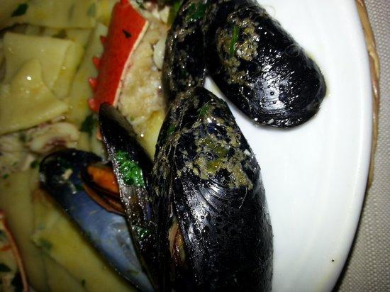 Castiglione del Lago, İtalya: cozze sporche