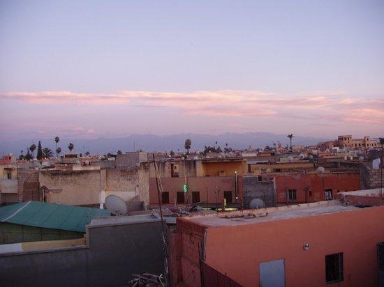 Riad Souad: une vue depuis la derniere terrasse