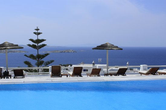 Alkyon Hotel : Amazing view from the Pool