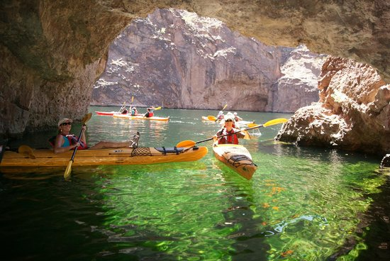 Evolution Expeditions Kayak Emerald Cave Tours In The Black Canyon Las Vegas