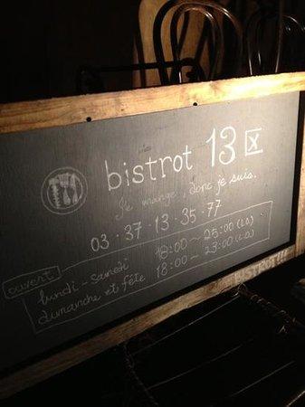 Bistrot13: 看板。