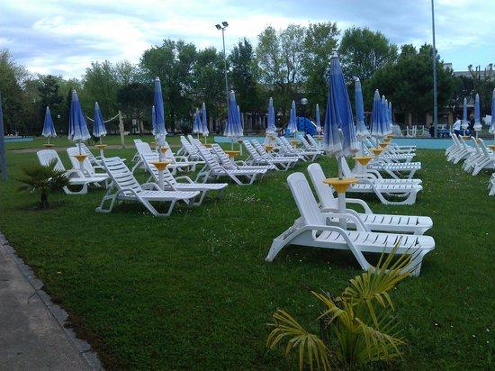 Duna Rossa Residence: Sdraio in piscina ( su prato )
