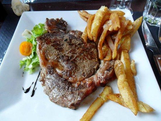 Quai West : entrecote a la bordelaise, frites maison