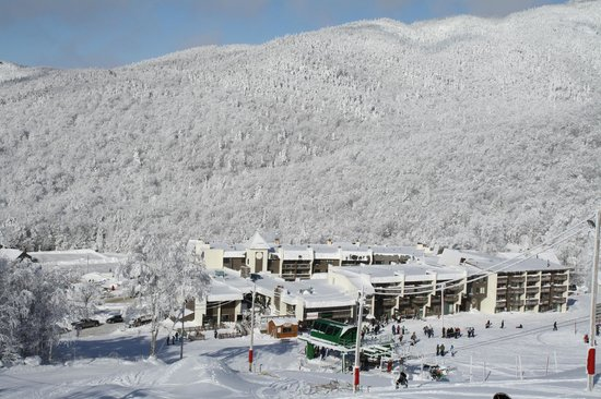 The Inn Bolton Valley & Ski Area: Ariel Exterior Winter