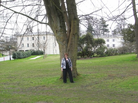 Rudding Park Hotel: Me in the lovely grounds with the hotel in the background