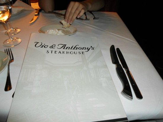 Vic & Anthony's Steakhouse - Las Vegas: Menu