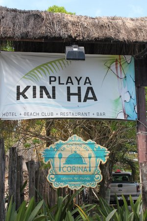 Hotel Playa Kin Ha: Sign for Hotel- easy to miss