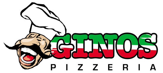 """Ginos Pizzeria: 18"""" Pizza by the Slice, free delivery and much more!"""