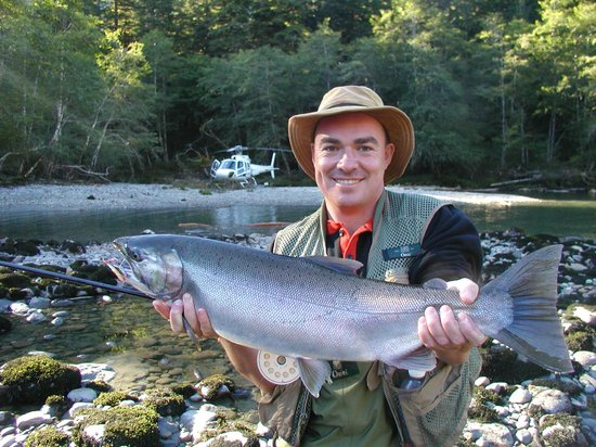 Nimmo Bay Wilderness Resort : Fly to a remote rivers to Catch and Release some of Canada's finest Salmon