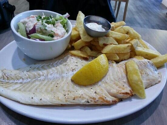 The Oban Bay Fish Bar & Restaurant: Pan fried 12-16oz cod fish with chips and salad for just £10.95