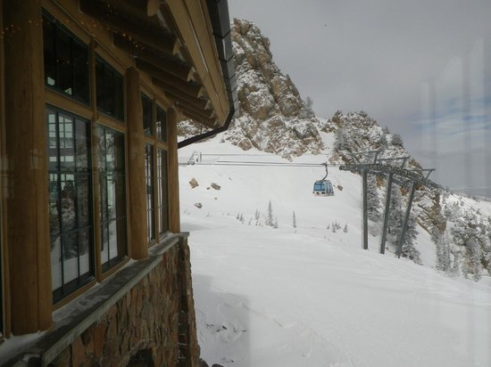 Snowbasin Resort: View from inside the Needle Lodge
